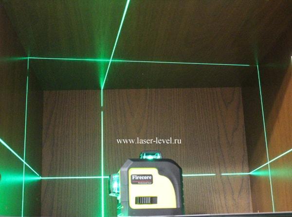 Firecore 3D зелёный - оптическая схема